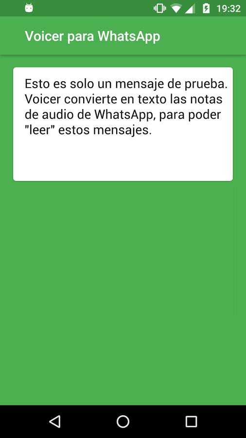 El resultado final es la nota de voz hecha texto. No hay límite de conversiones. (Foto Prensa Libre: Google Play).