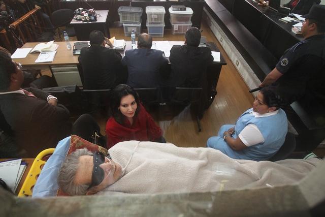 Efraín Ríos Montt fue declarado incapacitado, sus abogados lo representan. (Foto Prensa Libre: Hemeroteca PL)