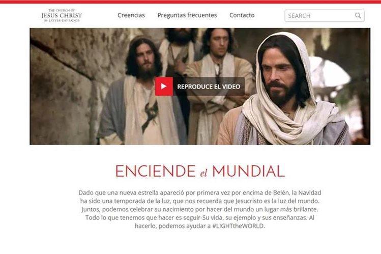 Desde el 1 de diciembre se lleva a cabo la campaña Ilumina el Mundo. (Foto Prensa Libre: Cortesía Iglesia de Jesucristo de los Santos de los Últimos Días)