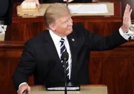 Trump se dirige a ambas cámaras del Congreso.(GETTY IMAGES).
