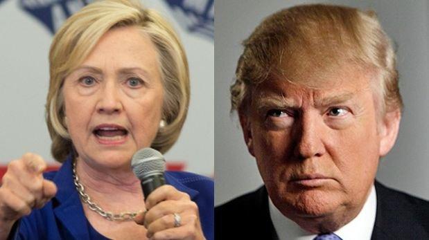 Clinton y Trump lograron sendas vitorias.