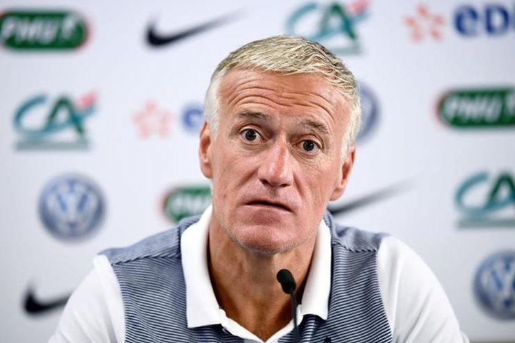 Deschamps prepara a la selección francesa para los duelos amistoso de la fecha Fifa de esta semana. (Foto Prensa Libre: AFP)