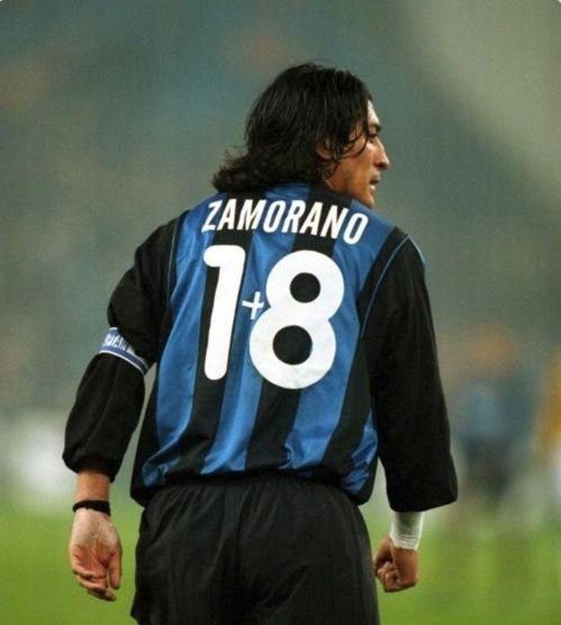 Iván Zamorano con el 1+8 durante su época en el Inter de Milán. (Alejandro Millan)