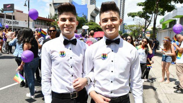 En Costa Rica muchos rechazan el matrimonio entre personas del mismo sexo. EZEQUIEL BECERRA/AFP