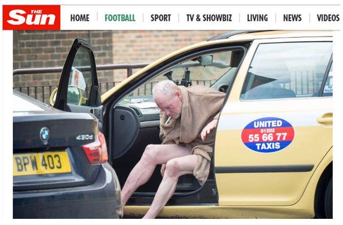 Paul Gascoine fue sorprendido en un deplorable estado de salud por su adicción al alcoholismo. (Foto Prensa Libre: The Sun)