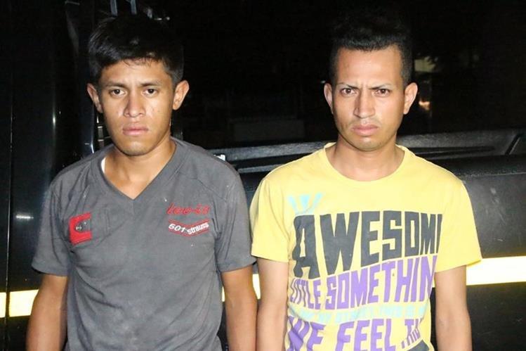 Edwin Siquibache y Luis Orellana, son sindicados de matar a un hombre en Villa Nueva. (Foto Prensa Libre: Cortesía PNC)