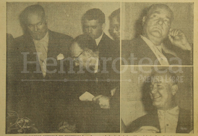 A la izquierda aparece el doctor Arévalo con el periodista Isidoro Zarco de Prensa Libre, a la derecha dos momentos de la entrevista realizada el 29 de marzo de 1963. (Foto: Hemeroteca PL)