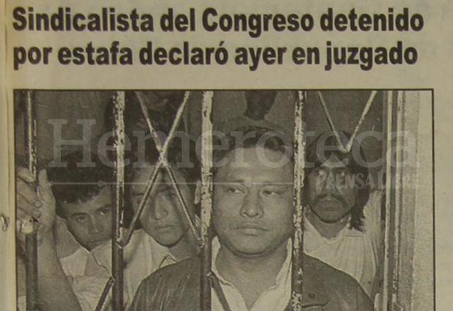 José Alfredo Pedroza, dirigente del SINTRACOR, fue detenido en 1995. (Foto: Hemeroteca PL)