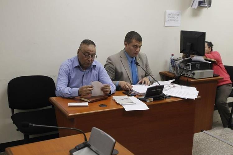 Agustín Carmelino López Alvarado durante audiencia en el Tribunal Quinto de Sentencia Penal. (Foto Prensa Libre: Paulo Raquec)
