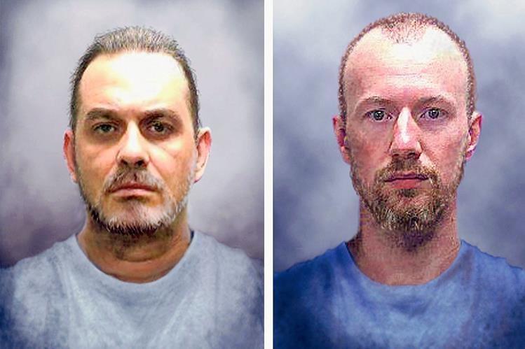 Los presos fugados Richard Matt y David Sweat  (Foto Prensa Libre:AFP).