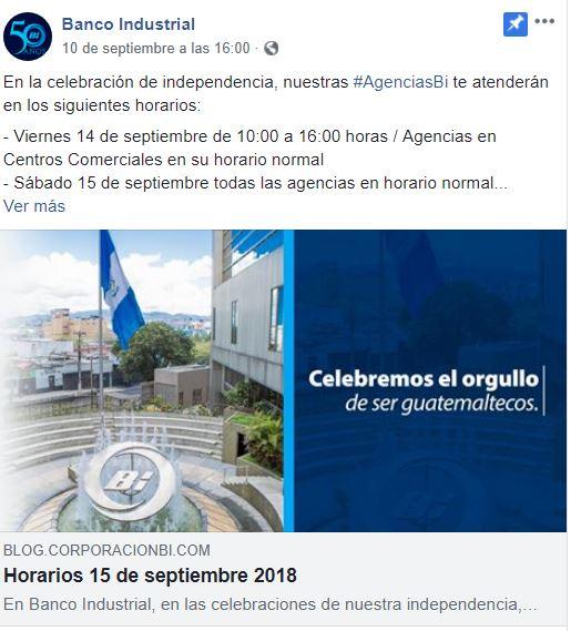 Bancos cerrados el viernes por asueto del 15 de septiembre