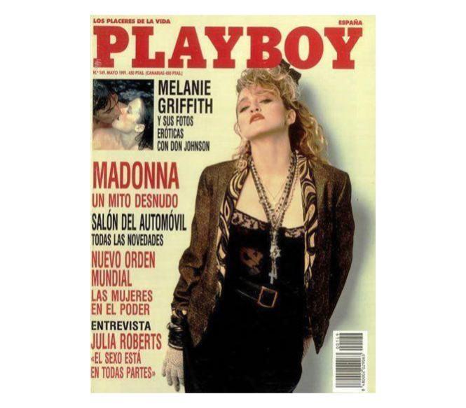 Las fotos de Madonna llegaron a grandes publicaciones pese al rechazo de la artista (Foto Prensa Libre: Playboy España).