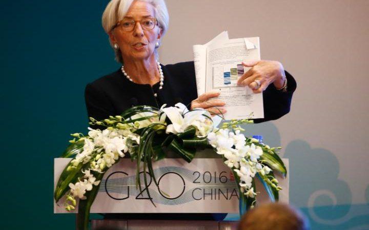 Christine Lagarde, directora gerente del Fondo Monetario Internacional, en reunión del G20. (Foto PL: internet)