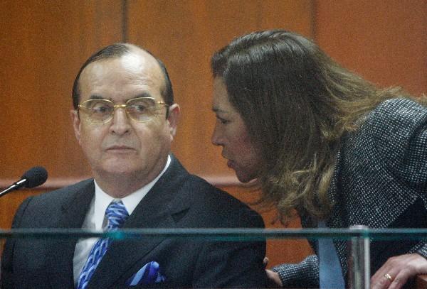 Vladimiro Montesinos fue condenado el martes a 22 años de cárcel por la desaparición forzada.(AP).
