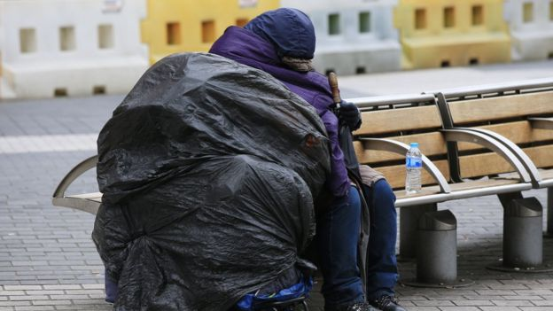 En las calles de potencias como Reino Unido o Estados Unidos se puede ver muchas personas sin casa. (PA)