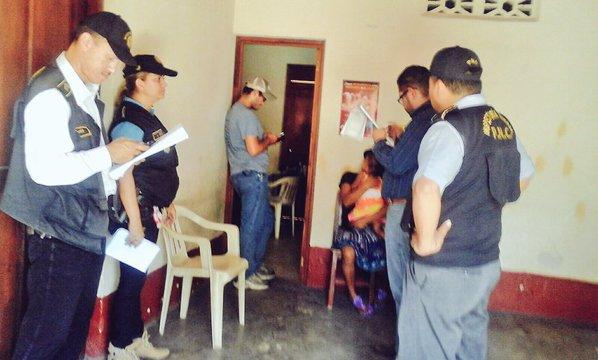 Clínica del médico Héctor Santiago García, quien fue capturado en Mazatenango, Suchitepéquez. (Foto Prensa Libre: IGSS)