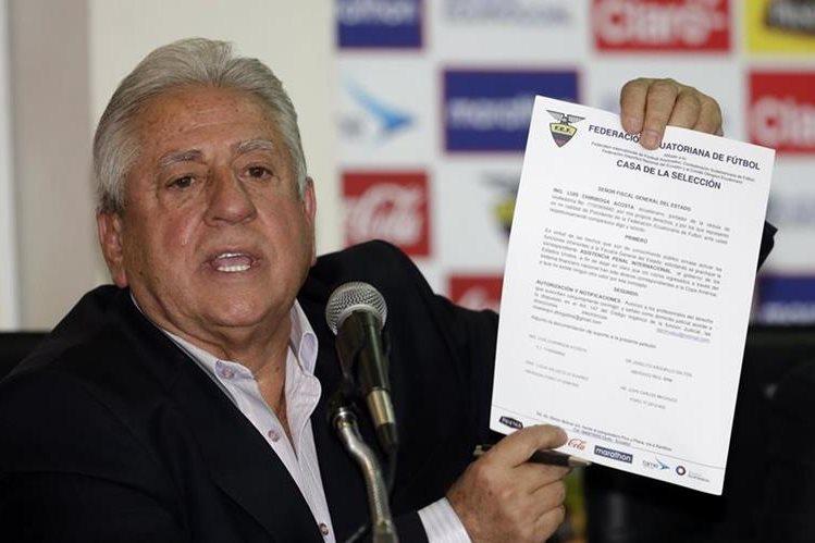 Luis Chiriboga, expresidente de la Federación Ecuatoriana de Futbol, fue sentenciado la semana pasada a 10 años de prisión por el delito de lavado de activos. (Foto Prensa Libre: Hemeroteca PL)