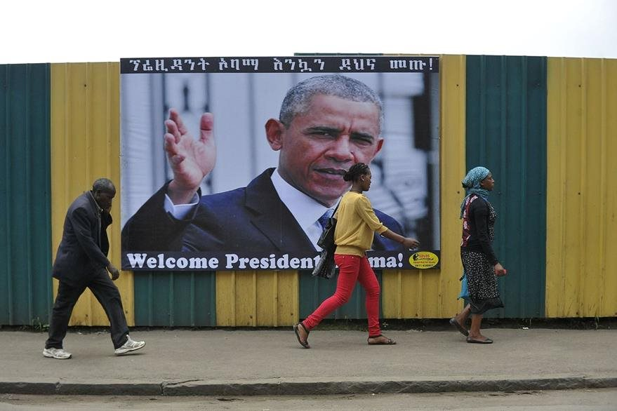 El martes, Barack Obama dará un discurso muy esperado en la sede de la Unión Africana en Adís Abeba. (Foto Prensa Libre: AFP).