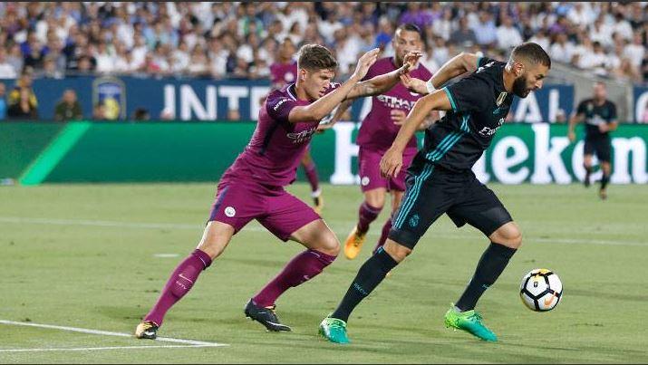 El Real Madrid pierde su segundo partido de pretemporada, esta vez ante Manchester City. (Foto Prensa Libre: AFP)