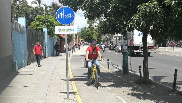 El trayecto de 1.2 kilómetros se recorre en bicicleta en tres minutos promedio. (Foto Prensa Libre: Oscar Felipe Q.)