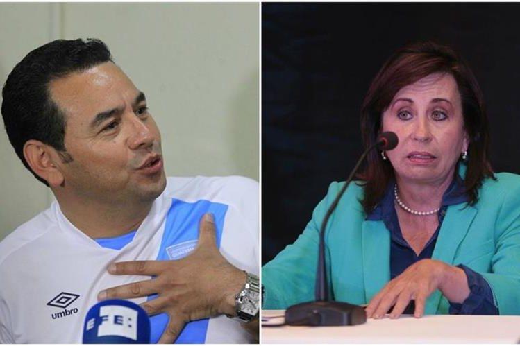 Jimmy Morales y Sandra Torres estarían disputando la presidencia en un balotaje el próximo 25 de octubre. (Foto Prensa Libre)