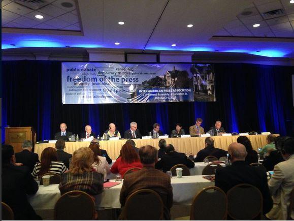 Tercera sesión de la Asamblea General, que se realiza en Charleston, EE. UU. (Foto: Twitter/@sip_oficial).