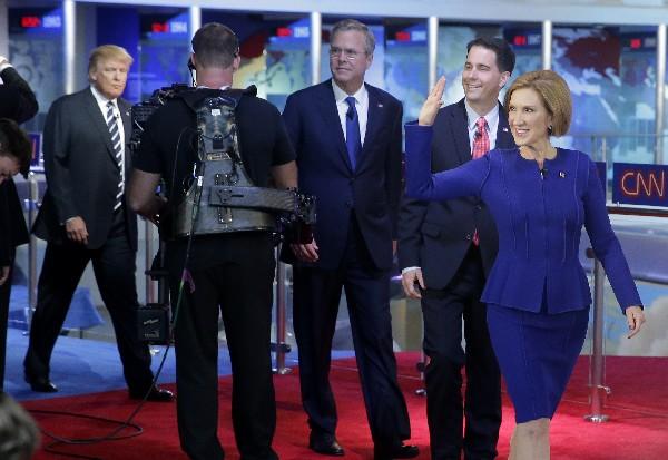 <em><strong>Carly Fiorina puso en su lugar a Donald Trump durante debate republicano.</strong></em>