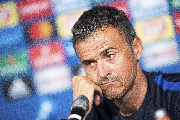 Luis Enrique, técnico del Barcelona, aseguró que el duelo contra el Borussia Monch. será complicado. (Foto Prensa Libre: AFP).