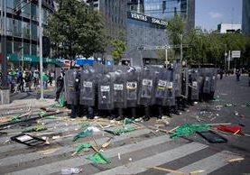 Una reciente manifestación en Ciudad de México, donde el domingo se esperan concentraciones en contra de Trump. (Foto Prensa Libre: AP).