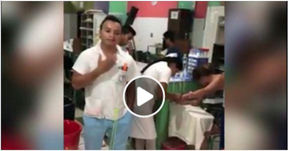 El enfermo, cuyo nombre se desconoce, se negó a atender a una paciente en el Hospital Nacional de San Benito, Petén. (Foto Prensa Libre: Cortesía)