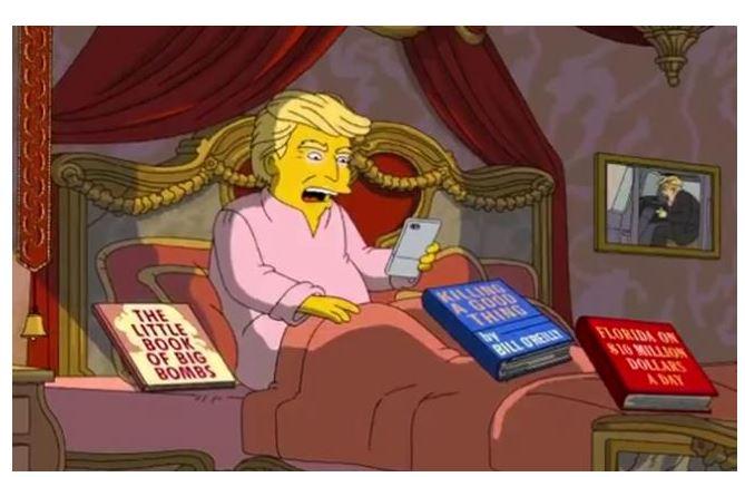 En el próximo episodio de la serie animada de Fox se podrá ver a los ministros del mandatario y al propio presidente de EE. UU. (Foto Prensa Libre: Tomada de YouTube)