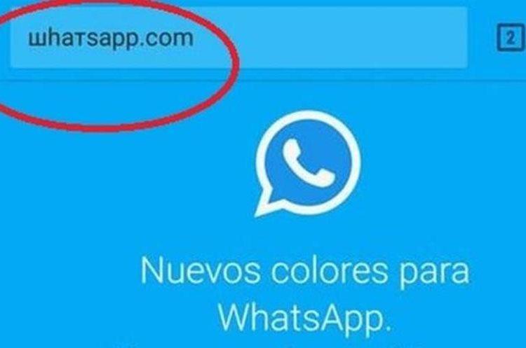 """La URL engañosa usa el mismo nombre que WhatsApp pero con caracteres cirílicos (y no comienza con """"https""""). (ШҺАТЅАРР.COM)"""