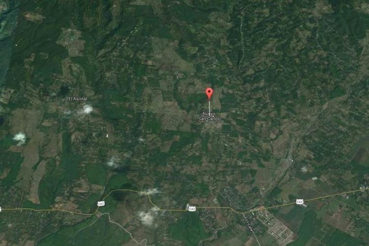 Ubicación de Nuevo San Carlos, Retalhuleu, donde un hombre fue capturado sindicado de haber intentado violar a una mujer. (Foto Prensa Libre: Google Maps)