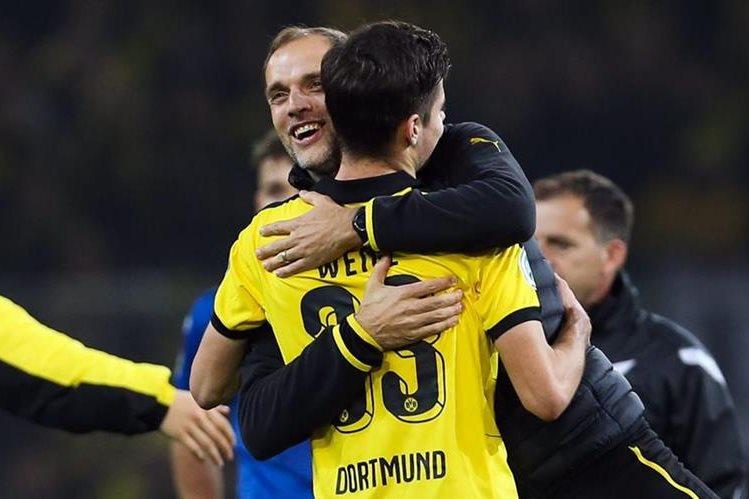 El Dortmund consiguió una importante victoria este miércoles. (Foto Prensa Libre: EFE)