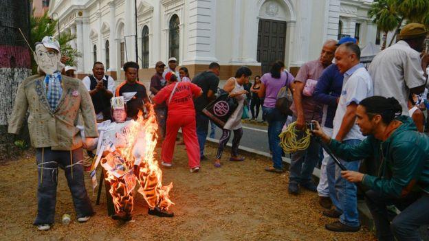"""Mendoza es uno de los personajes más denostado por el chavismo como imagen de la """"oligarquía"""". AFP"""