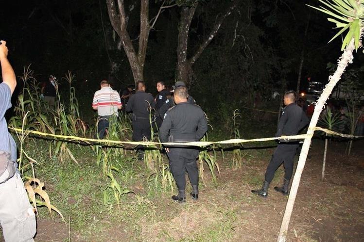 Lugar donde ocurrió el crimen contra José Enrique Vega Salinas. (Foto Prensa Libre: Walfredo Obando).