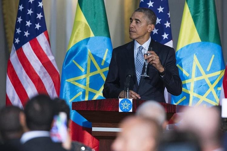 <em>Barack Obama pidió este lunes desde Etiopía a los países del este de África que <strong>&ldquo;</strong>mantengan la presión<strong>&rdquo; </strong>contra los shebab. (Foto Prensa Libre: AP).</em>