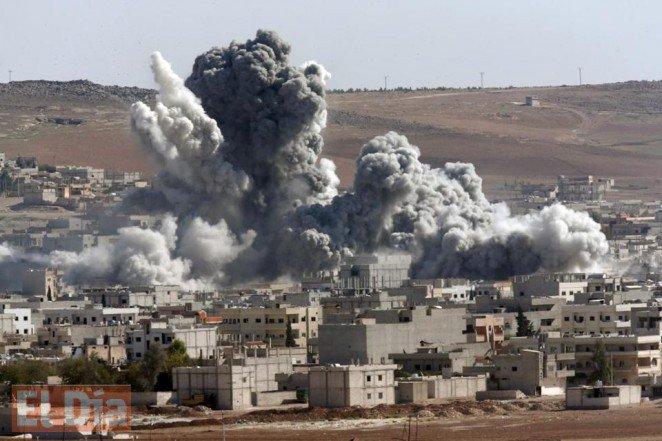 Las fuerzas aliadas, donde participa EE. UU. llevan a cabo intensos bombardeos en Siria. (Foto: Hemeroteca PL).