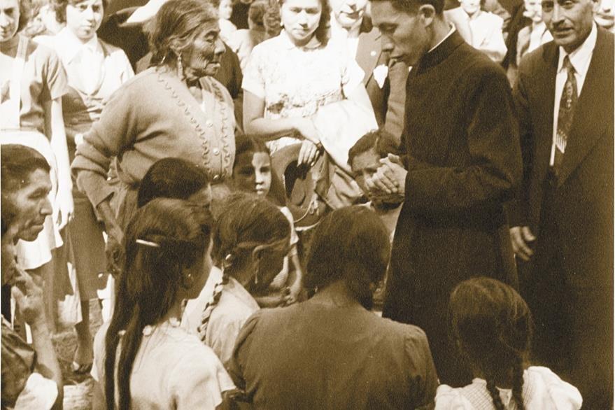 Padre Hermógenes López Coarchita, Párroco de San José Pinula. Asesinado en 1978. Foto: Hemeroteca PL