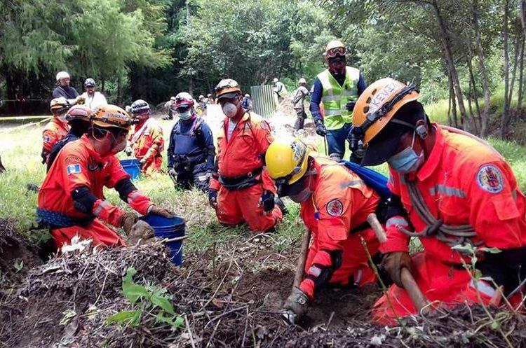 El trabajo en equipo es fundamental para alcanzar los objetivos durante un rescate de víctimas de desastres naturales. (Foto Prensa Libre: Mike Castillo)