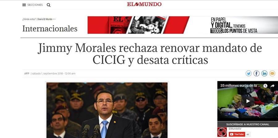 Así tituló el diario español El Mundo.