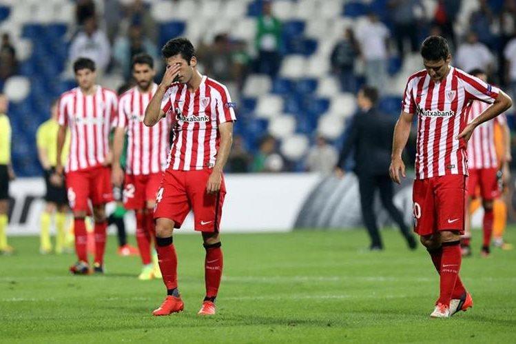 El Athletic hizo lo que pudo y al final resultó goleado frente al equipo italiano. (Foto Prensa Libre: AP)