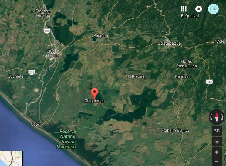 El ataque armado ocurrió en el parcelamiento Chiquirines, La Blanca, San Marcos. (Foto: google maps)