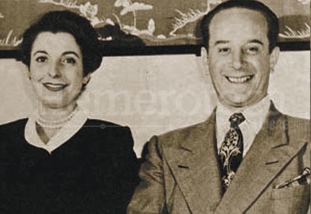 María Cristina Vilanova y el presidente Coronel Jacobo Árbenz Guzmán. (Foto: Hemeroteca PL)