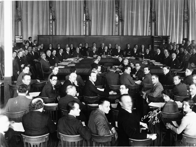 José Matos Pacheco presidió la 67 Sesión de Consejo de la Sociedad de Naciones, en Ginebra, Suiza (1932).