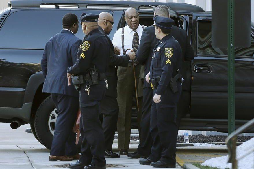 Actor y comediante arribó este martes a un tribunal de Pensilvania. (Foto Prensa Libre: AP)