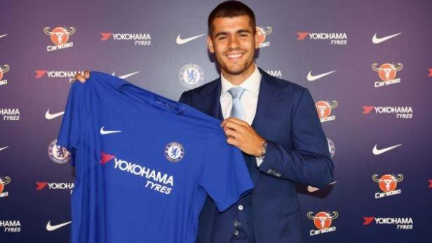 Álvaro Morata utilizará el número 9 en el Chelsea. (Foto Chelsea).