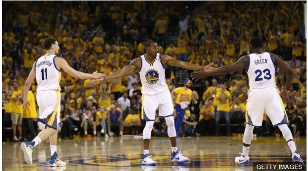 Además de Durant y Curry, los Warriors cuentan con una segunda línea de súper estrellas como Thompson, Iguodala y Green.