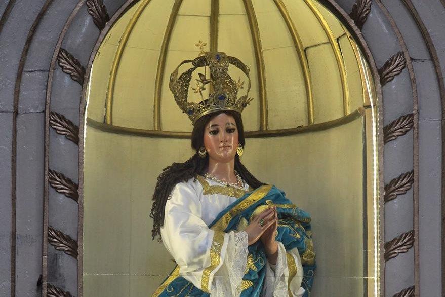 La imagen de la Virgen de la Inmaculada Concepción arribó a Guatemala en 1590. Foto Prensa Libre: Álvaro Interiano.