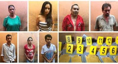 Tres mujeres, una de ellas nicaragüense, figuran entre los siete detenidos. (Foto Prensa Libre: PNC)